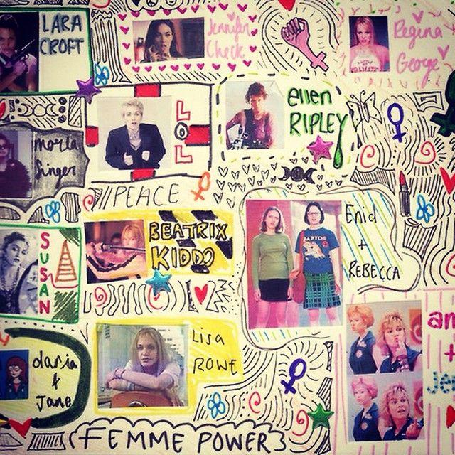 Today's Loud Woman: Taylor-Ruth Baldwin. Doodle's first teen crush. #thisishangingrockcomics #beloud #femmepower