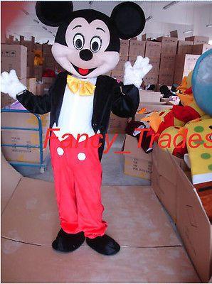 Cheap Mickey Mouse Mascot Costume Fancy Adult Sz Cartoon Dress EPE