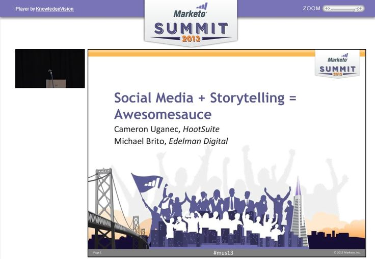 Sociale medier + storyteling = awesonesause ifølge Meketo & Cameron Uganec, director of Marketing & Communications at HootSuite. Webinar med gode råd og how to.