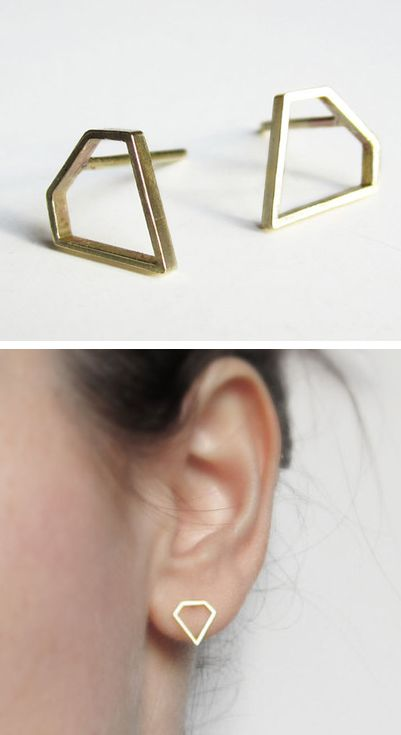 Diamond shaped stud earrings |only $0.99 shop at Costwe.com