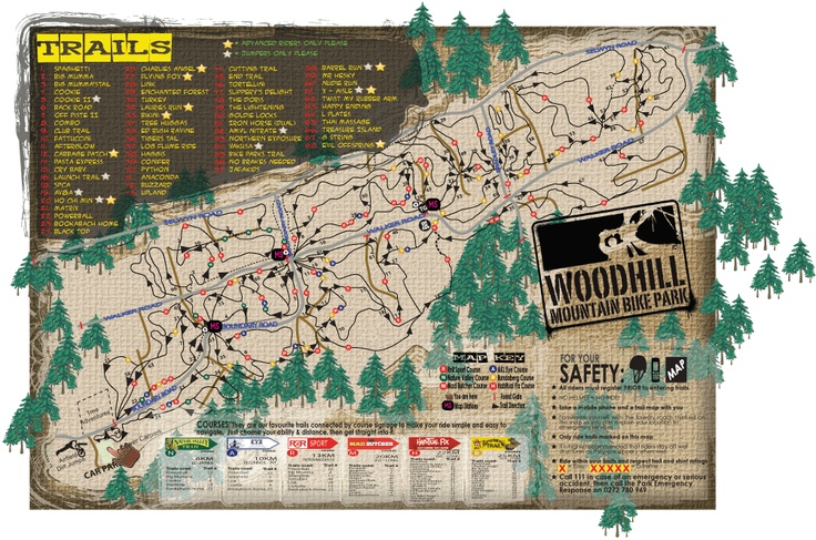 Woodhill Mountain Bike Park - Maps