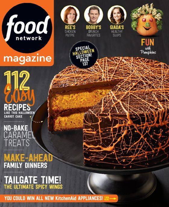 food network magazine is americas best selling food magazine on newsstandsand every food - Halloween Magazines
