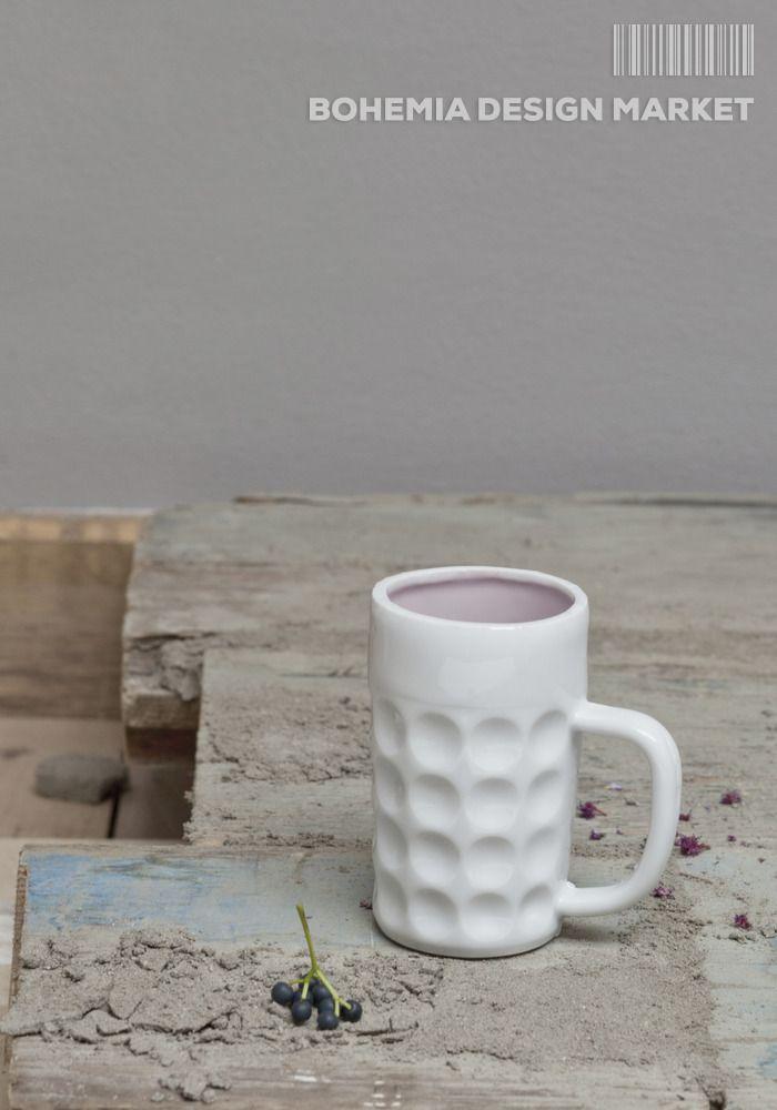 #beer #mug #local #czech #design  Mug based on the shape of the traditional Czech beer glass Size12x6cm
