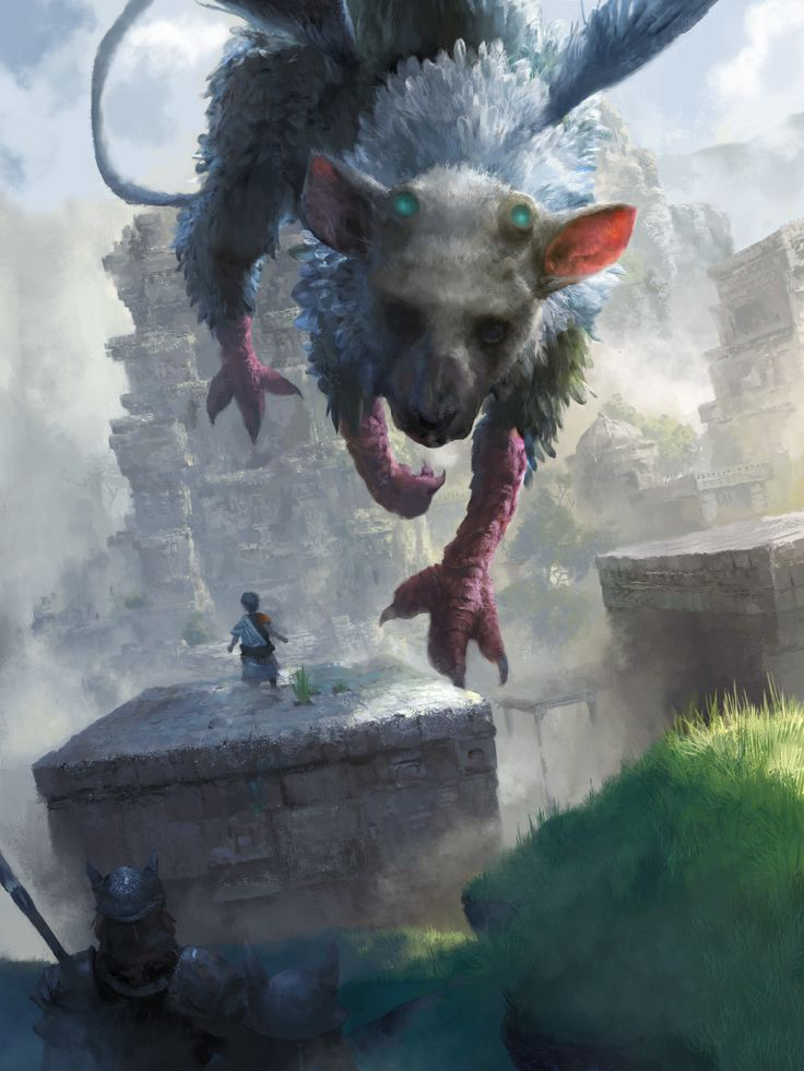 The Last Guardian , MICHAEL CHANG on ArtStation at https://www.artstation.com/artwork/6zar5
