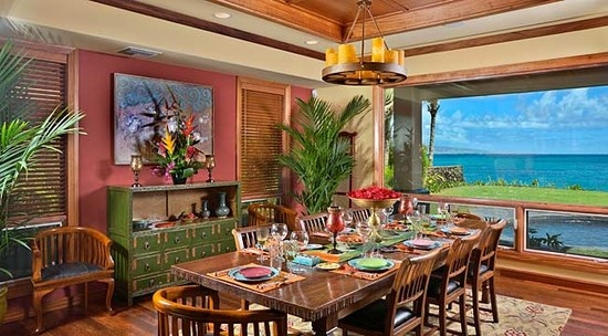 23 best tiki bar images on pinterest tiki tiki tiki art for Tropical dining room ideas