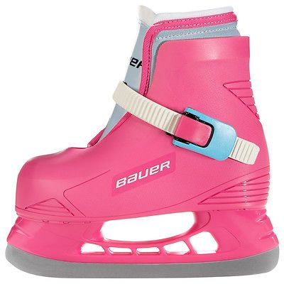 Ice Hockey-Youth 26342: New Bauer Toddler Girls Lil Angel Hockey Ice Skates Pink Sizes Size 10/11 BUY IT NOW ONLY: $32.95