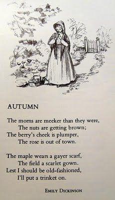 Autumn Poem - Emily Dickinson