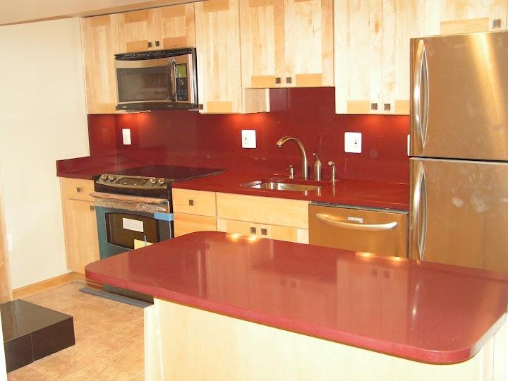 Newland Basement Renovation Kitchen With Dupont Zodiac Caroli Red Countertops My Work
