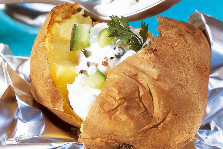 Das Rezept für Backkartoffel   Frühlings-Dip mit allen nötigen Zutaten und der einfachsten Zubereitung - gesund kochen mit FIT FOR FUN
