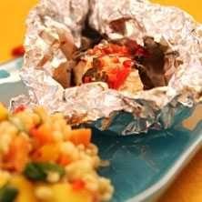 Arubalax med exotisk bulgursallad - Recept - Tasteline.com