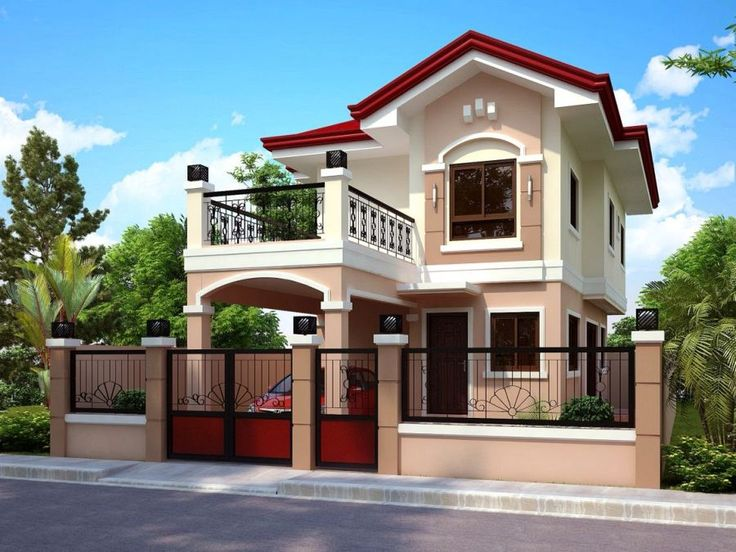 design of two storey house with house front elevation