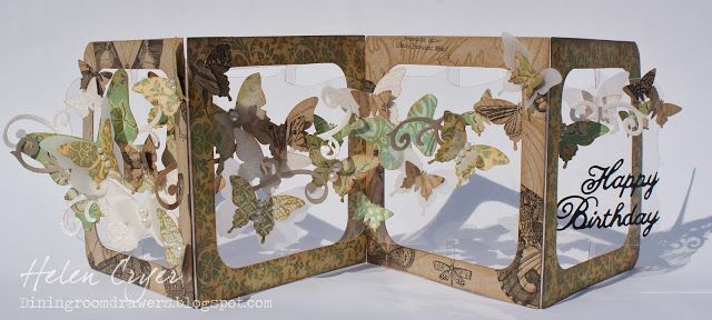 *gasping*for*air*! The Dining Room Drawers: Sizzix Accordion Album Butterfly Card