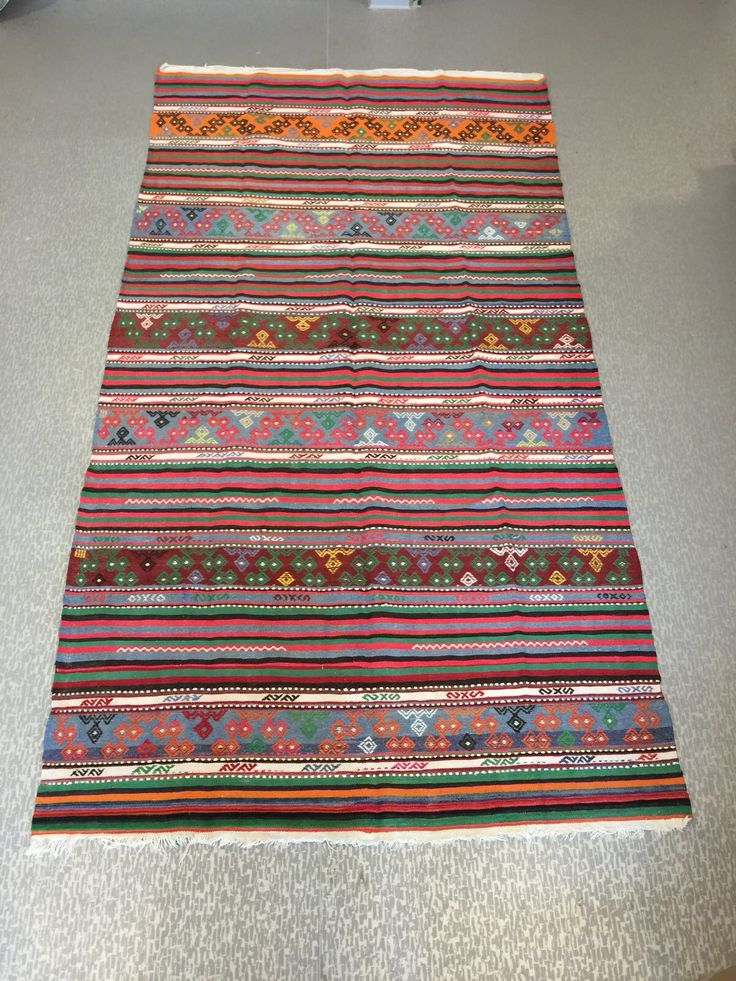 "TURKISH KILIM RUNNER STRIPE, 290 x 153 cm ( 114 "" x 60 "" )"