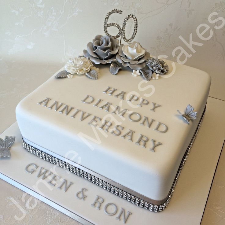Cake Decorations For Diamond Wedding Anniversary : 25+ best 60th anniversary cakes ideas on Pinterest 50th ...