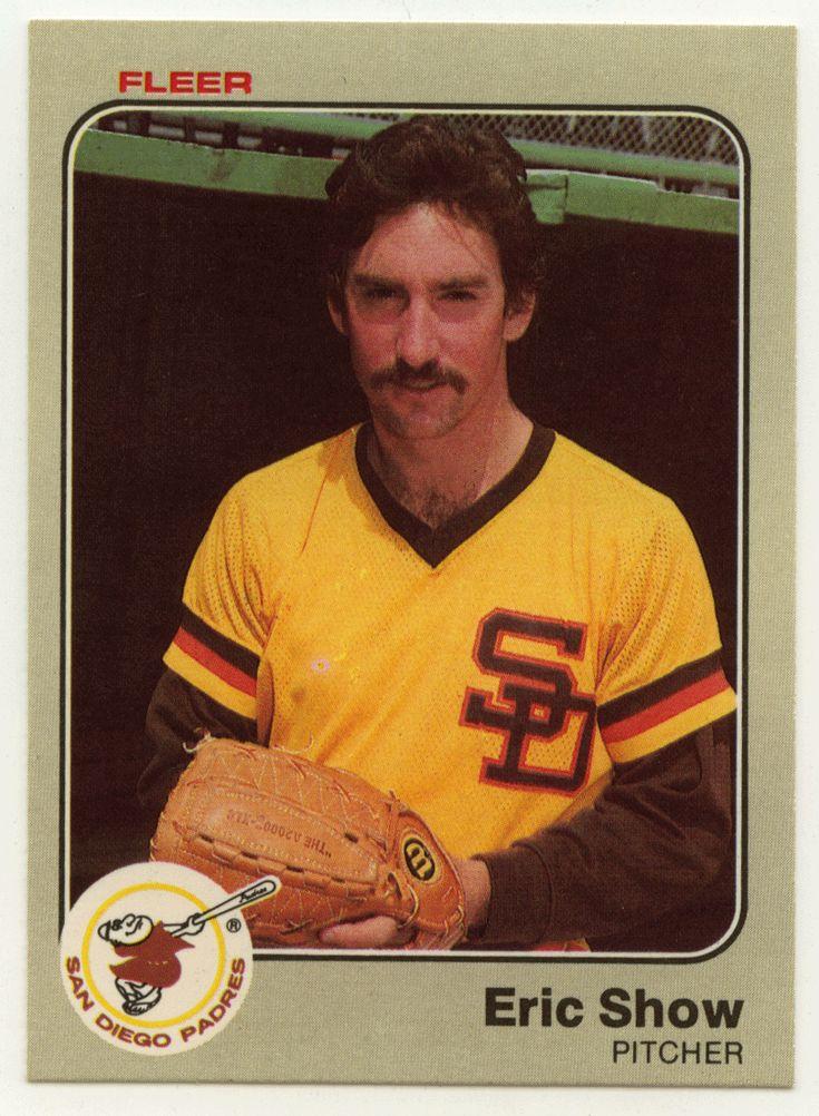 Eric show rc 372 1983 fleer baseball mlb rookie mlb
