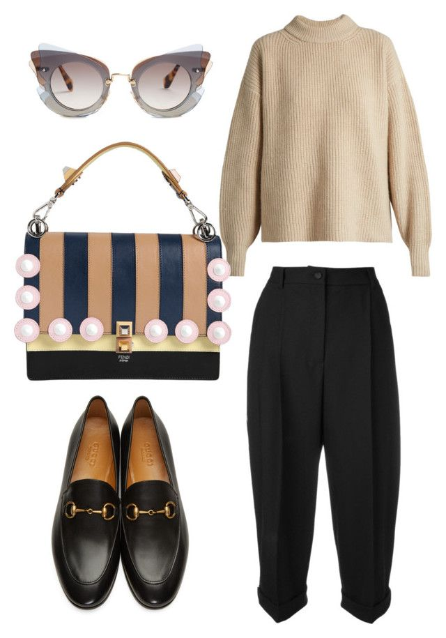"""Cat eye! Good bye!"" by anita-wonderlight on Polyvore featuring мода, The Row, Dolce&Gabbana, Gucci, Fendi и Miu Miu"
