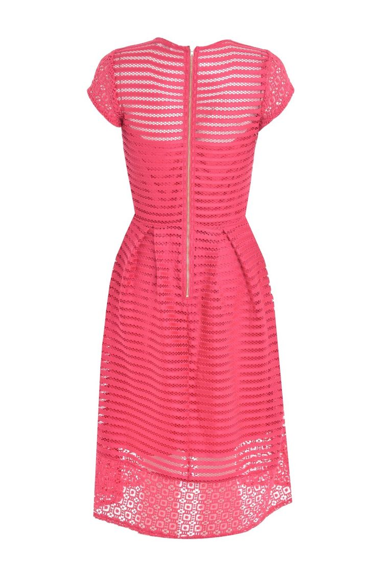 Wendy mesh dress in cerise.