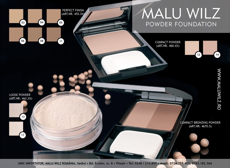 POWDER are available at MALU WILZ ROMANIA! MALU WILZ Products are manufactured in Germany! www.maluwilz.ro