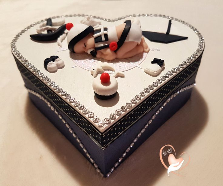 Boîte de naissance Bébé Marin garçon - au coeur des arts - Cadeaux de naissance - Au coeur des Arts