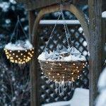 Starry Night Basket Outdoor Christmas Lights Decorating Design