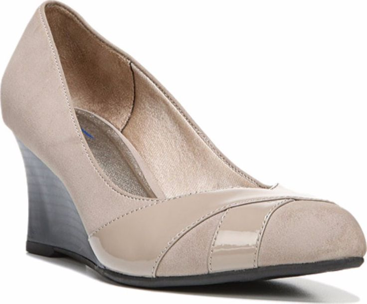 NEW LifeStride Wedge Pump Taupe Beige Shoes Memory Foam Women's  9.5  #LifeStride #PlatformsWedges