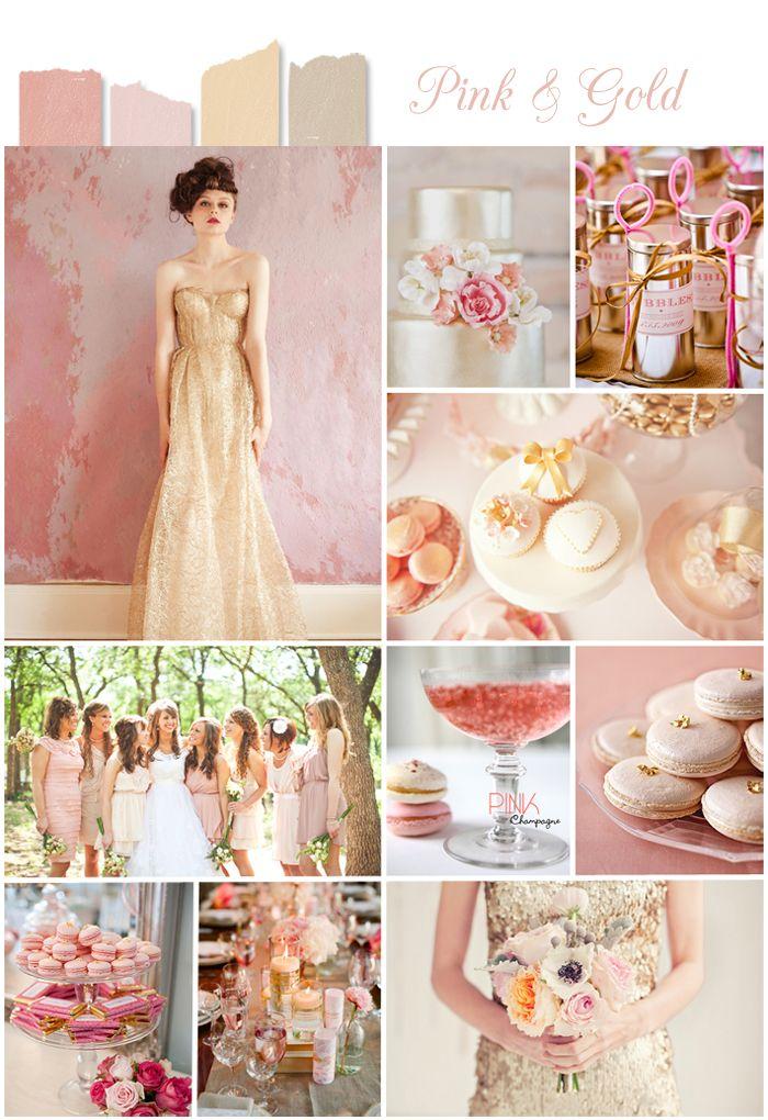 blush, creme, and gold wedding color inspiration