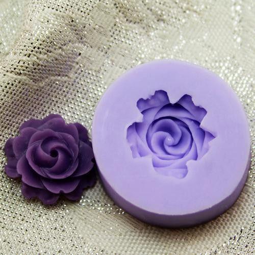 Single petal flower silicone mold