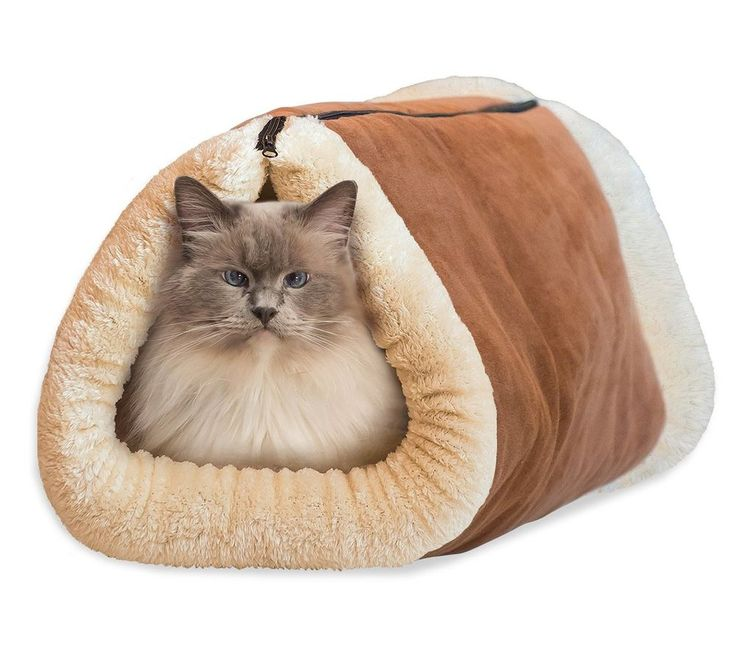 2 In 1 Cat Bed And Mat House Cave Soft Portable Lightweight Pet Kitty Puppy Pad #Kitty