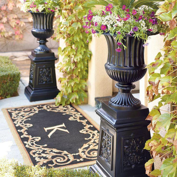 1000 Images About Outdoor Flower Pots Amp Pedestals On