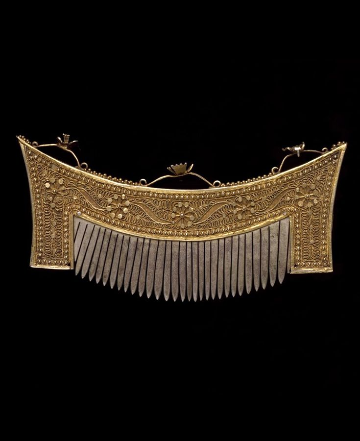 Indonesia | Crown from the Lampung people of southern Sumatra | Gold and silver | Late 19th to early 20th century ||| {GPA}