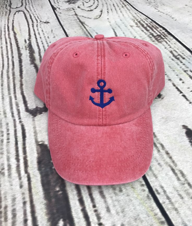 Anchor hat - Anchor baseball hat - Anchor baseball cap - Pigment dyed hat - Beach hat - Nautical hat - Spring break hat -Beach cap - Lake hat -Anchors away - Beach hair don't care - Anchor cap