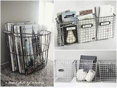 DIY: Cestas metalicas con malla de gallinero   Decorar tu casa es facilisimo.com