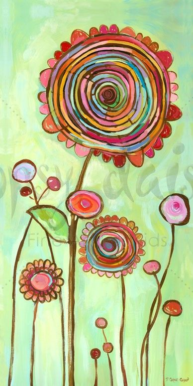Brilliant Swirl - Floral Canvas Wall Art | Oopsy daisy