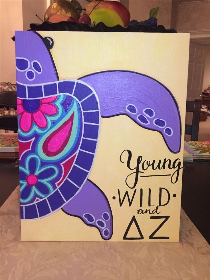 delta zeta sorority canvas