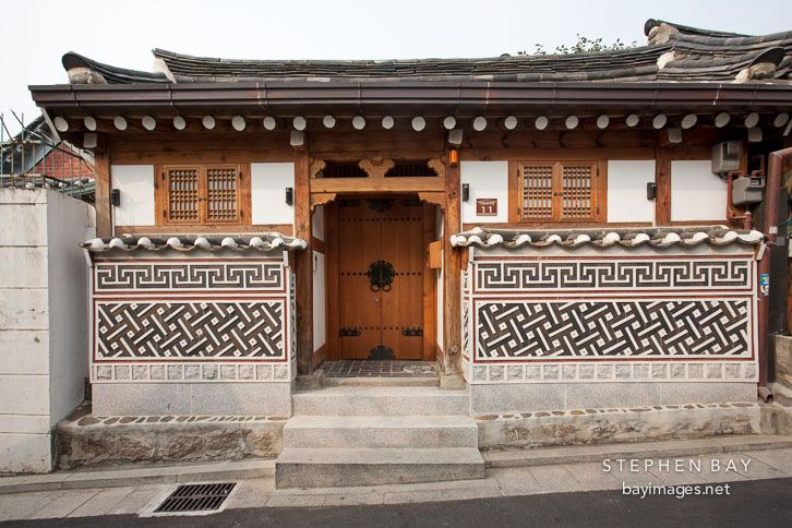 Traditional Korean house in Bukchon, Seoul.