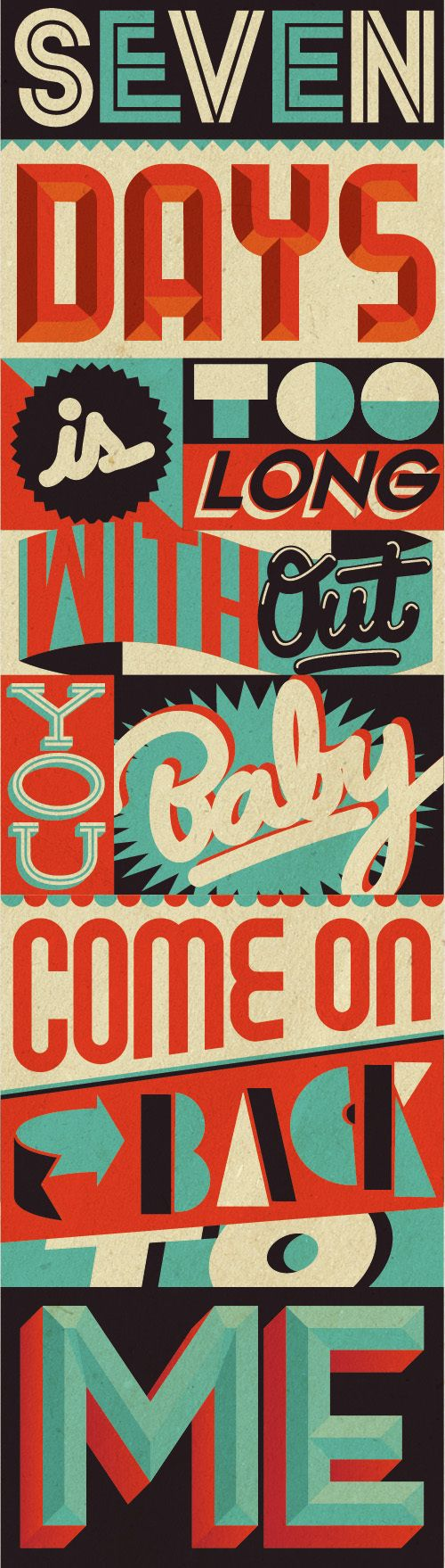 Love this vintage poster design by Bevlak via @inspiration_hut #typography #sevendaysistoolong #posterdesign