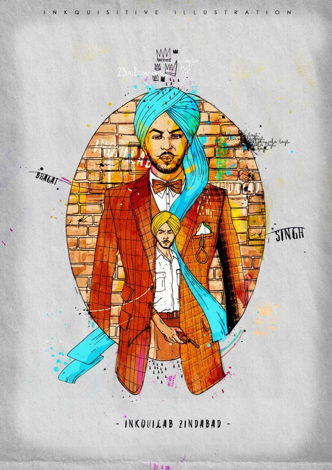 Bhagat Singh (Inkquilab) | Inkquisitive Illustration