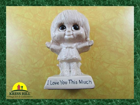 Retro I Love You This Much Big Eyed Girl by KressHillVintage