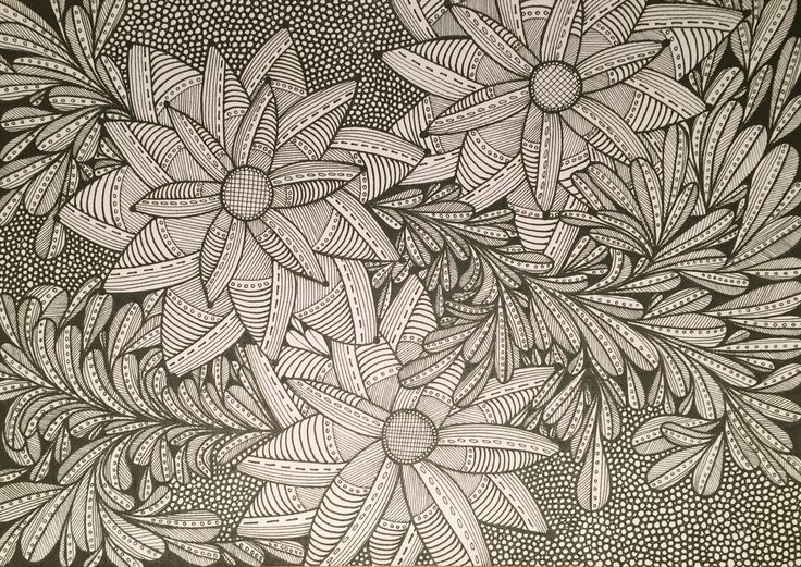 Flowers zentangle