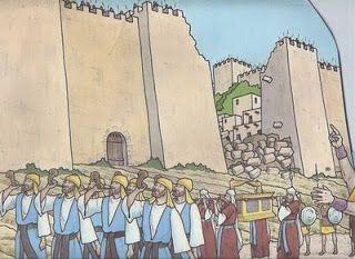 """Evangelizando Crianças: Lição Bíblica - """"As Muralhas de Jericó""""                                                                                                                                                      Mais"""