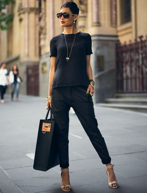 The Case for Wearing Only One Color via @PureWow