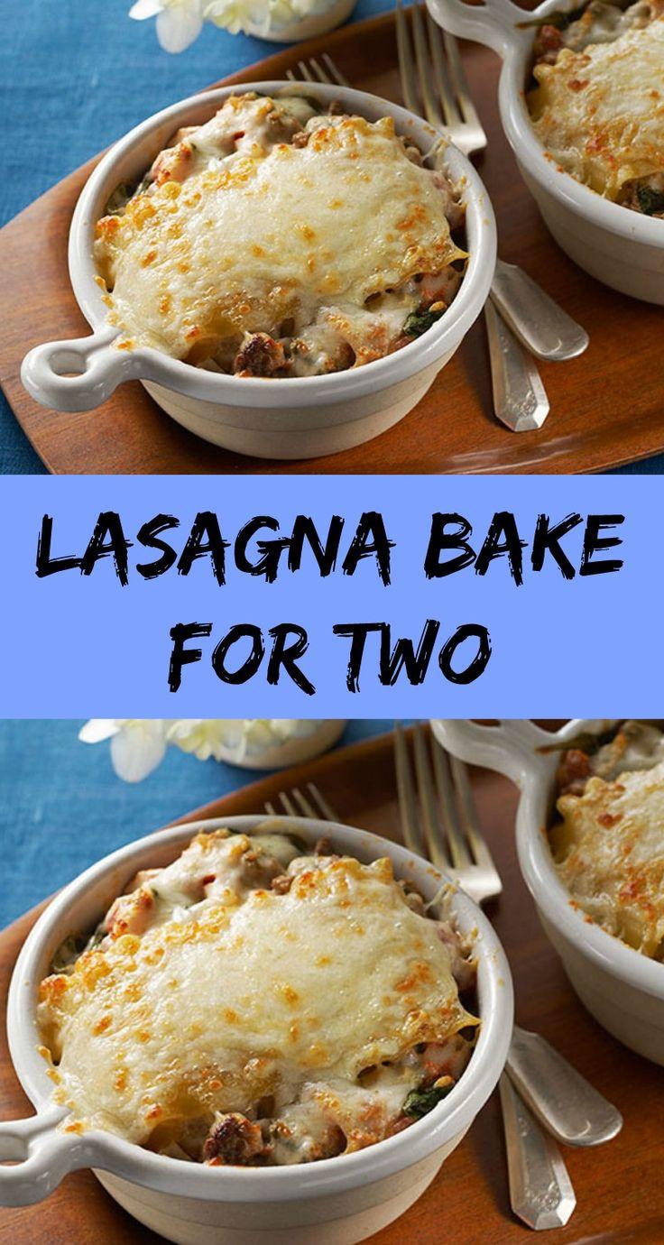 Lasagna Bake For Two
