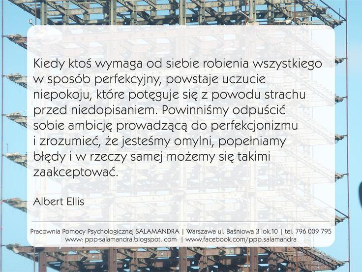 Albert Ellis o wymaganiu od siebie perfekcji