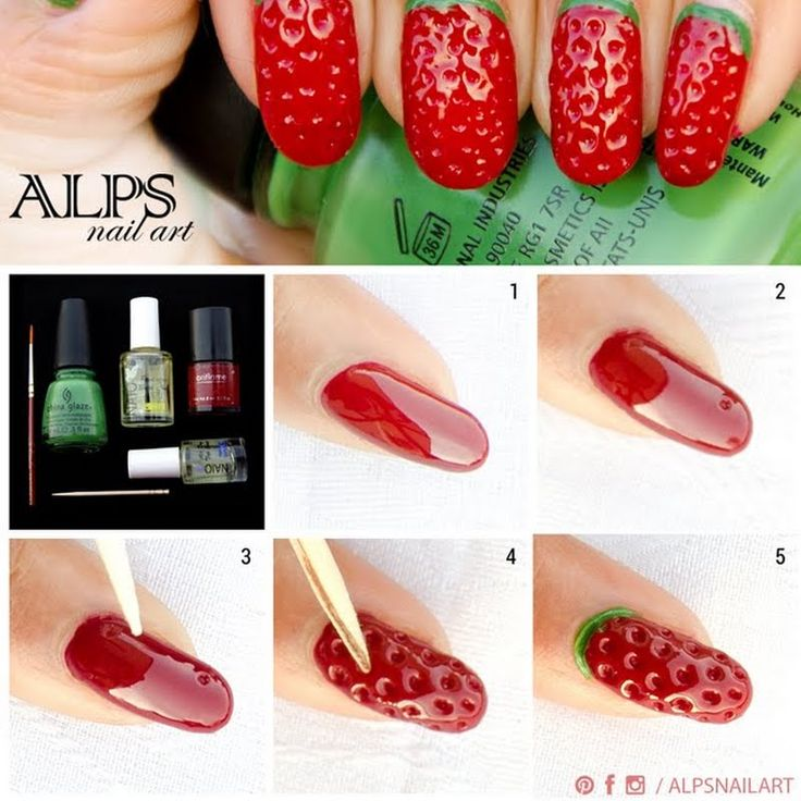 Would you try Strawberry Nails by @Alpsnailart by Alps N? Vote on Preen.Me! More tutorials on my blog http://www.alpsnailart.com/strawberry-nails-tutorial/ #alpsnailart #strawberrynails #fruitnails
