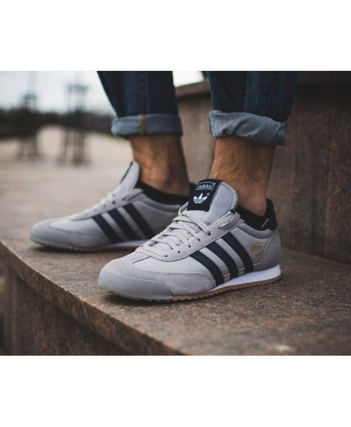 online retailer 30a54 52abd Adidas Dragon Wolf Grey Black Clear Brown Trainers Sale UK
