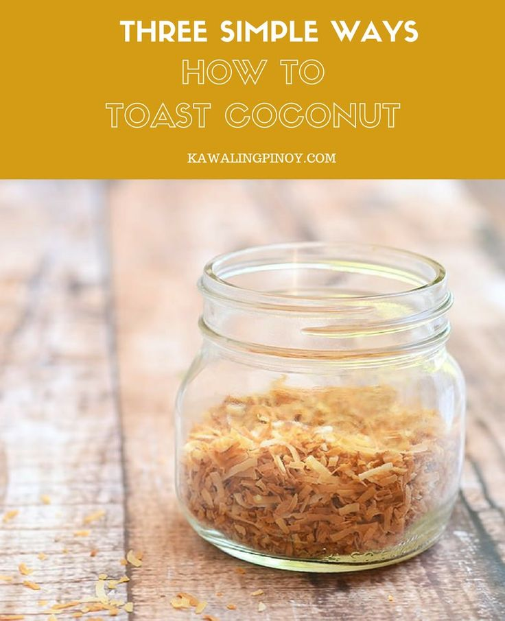 How to Toast Coconut in three different ways using stove, microwave or oven. With this easy-to-follow guide, you'll have fragrant coconut to use in your favorite recipes! via @lalainespins