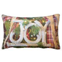 """Christmas JOY Pillow - Lumbar 13"""" x 21"""""""