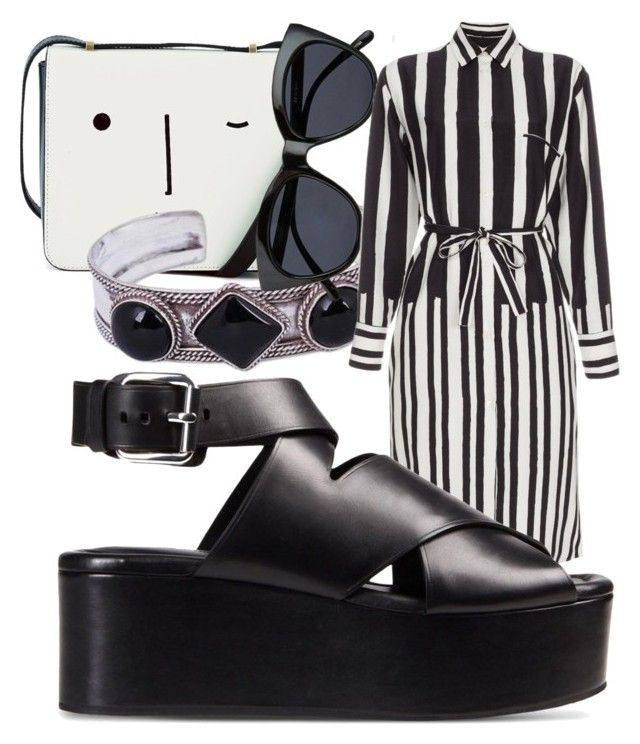 """Mrs. Doom"" by chelsofly ❤ liked on Polyvore featuring Lulu Guinness, NOVICA, Le Specs, Paul Smith and Alexander Wang"