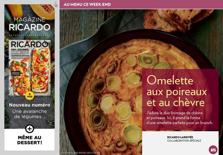 Omelette aux poireaux et au chèvre - La Presse+