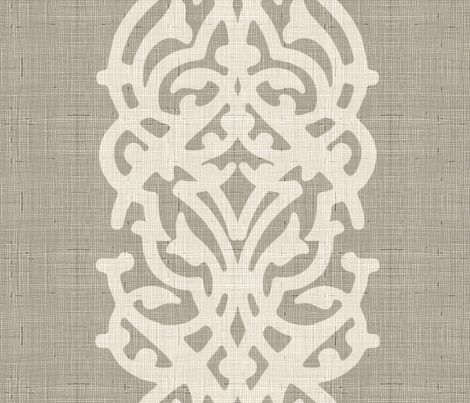 arabesque_linen_jute fabric by chicca_besso on Spoonflower - custom fabric